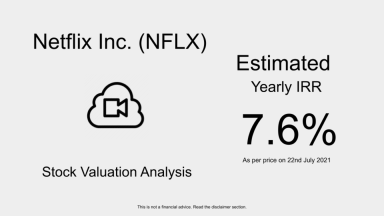 nflx stock valuation