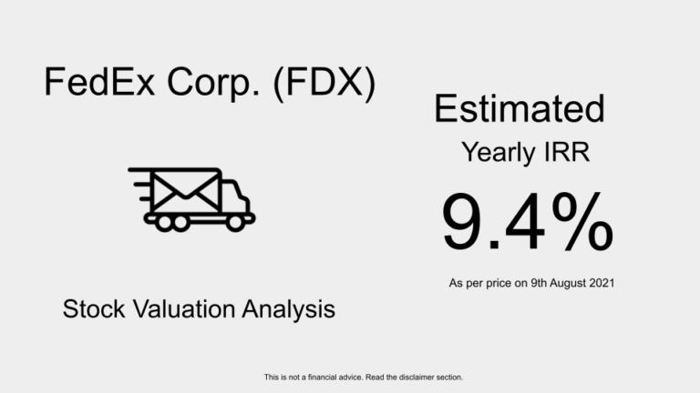 FDX stock valuation