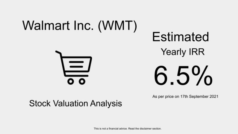 WMT Stock Valuation